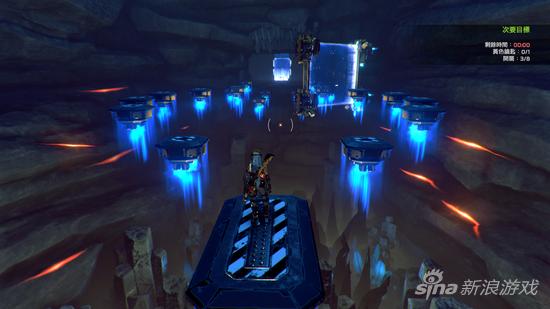 游戏中后期会遇到很多这样的平台跳跃关
