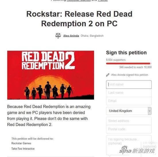 玩家联名请愿《荒野大镖客2》出PC版