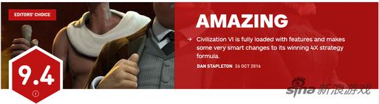 《文明6》IGN评分9.4分