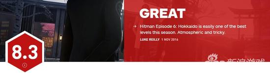《杀手6》最终章IGN评分