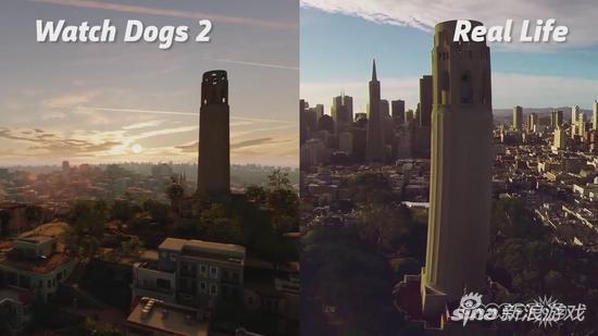 《看门狗2》游戏世界与真实旧金山对比