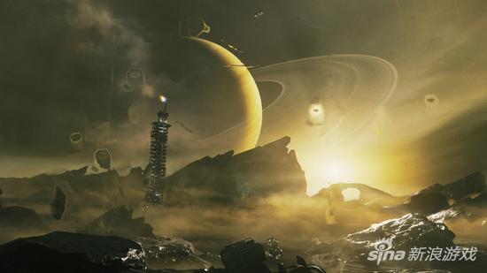 绝美的土星