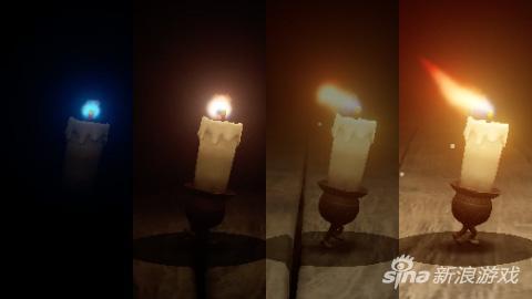 制作过程中不断改进的蜡烛人