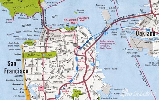 真实旧金山地图