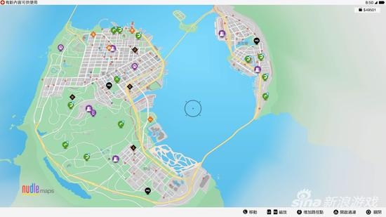 游戏中旧金山地图