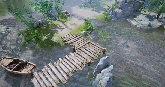 古灵村场景原画
