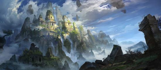 宫殿遗迹原画