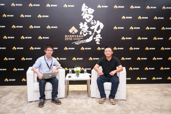 腾讯互动娱乐光子工作室群总裁陈宇(右)
