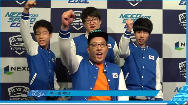 参加比赛的韩国队伍