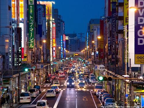 日本桥平时的样子,相当于东京的秋叶原,也是一个动漫圣地