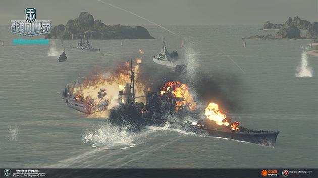 真实激烈的舰队对决