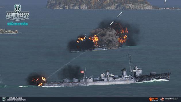 战舰惨遭俯冲轰炸