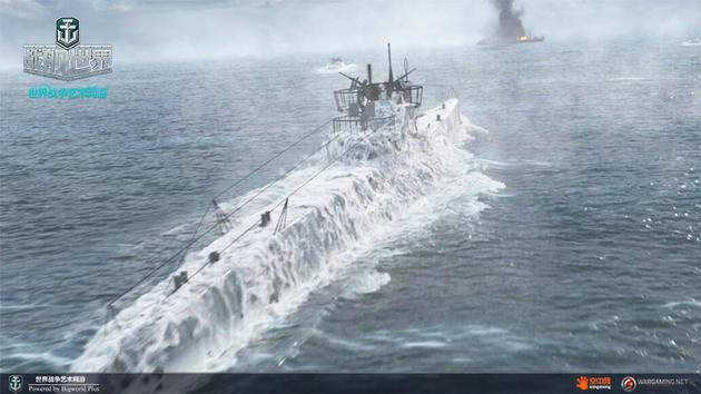 电影截图:海狼潜艇浮出水面进行攻击