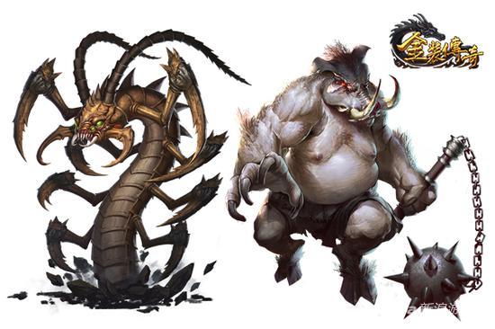 白色恶猪、触龙神