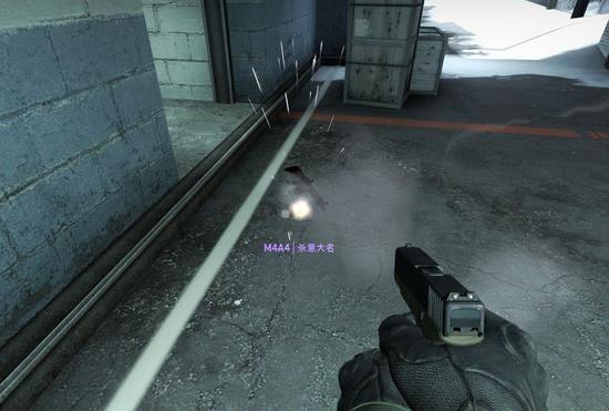 被子弹击飞的枪械