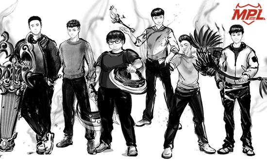 六支战队队长漫画形象合集