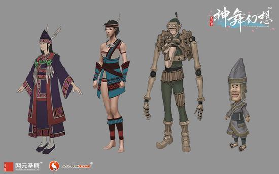 各具特色的多样文化凝聚为《神舞幻想》的九州世界