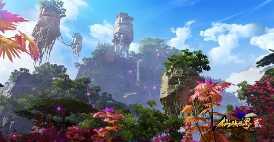 《仙侠世界2》中恢弘壮丽的游戏场景