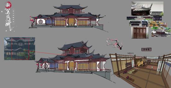 梅庄场景设计图