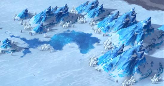 △全新地貌:冰原