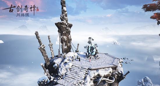 飞行在古剑世界,遍览绮丽仙景色