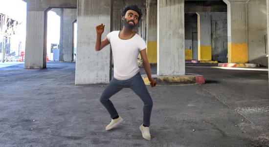 谷歌AR Playground更新 Pixel手机用户可以用AR和Gambino一起跳舞