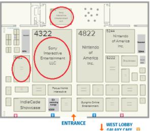 E3 2018PlayStation展位图
