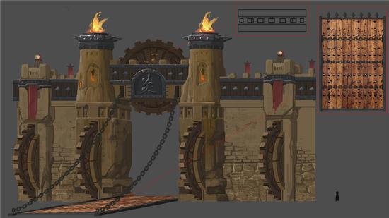 炎城大门设计稿