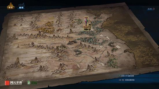 《古剑奇谭三》世界地图界面——常世