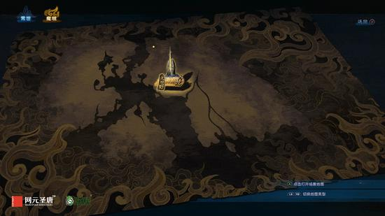 《古剑奇谭三》世界地图界面——魔域