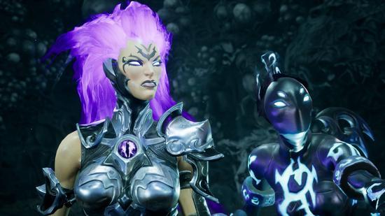 《暗黑血统3》新截图公布 紫发怒神大战Boss