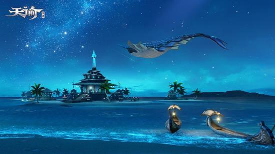 玄鲸飞过夜晚的汐语湾