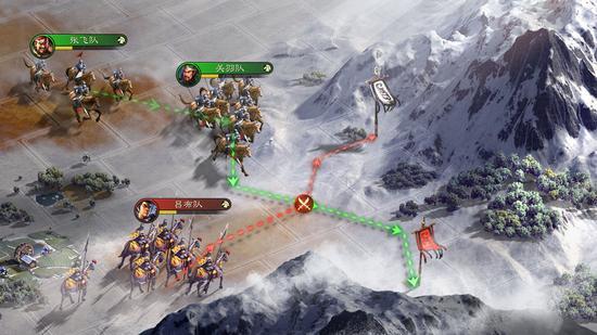 模拟真实行军,灵活调整行军方向,自由截击