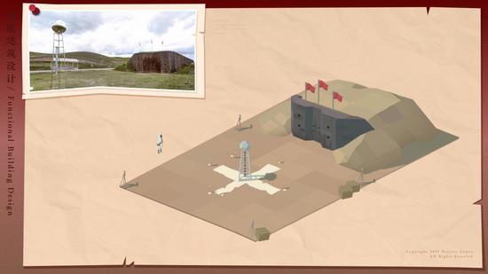 图为《第九所》中高度还原的爆轰试验场