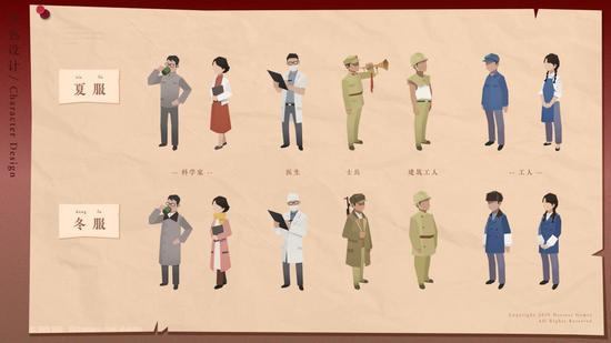 图为《第九所》中的人物设计
