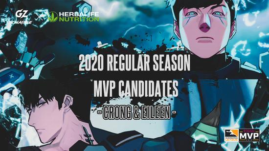 广州冲锋队选手Cr0ng和Eileen提名守望先锋联赛2020赛季MVP候选