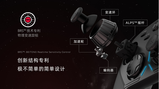 《【煜星网上平台】北通阿修罗3游戏手柄,BRS物理变速旋钮匠心独到的创新结构》