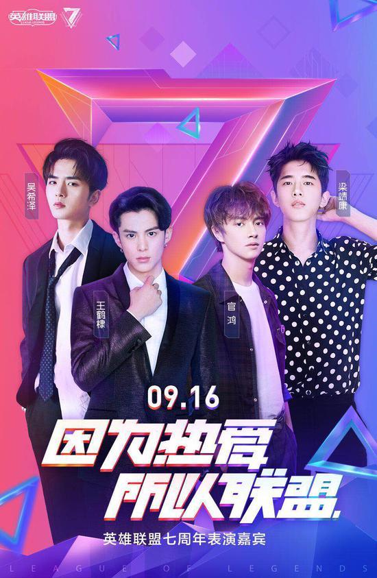 七周年嘉宾:新F4(王鹤棣、官鸿、梁靖康、吴希泽)