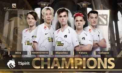 来自东欧的童话TSpirit拿下TI10国际邀请赛冠军