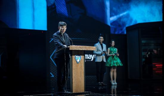 华奥电竞董事长李庆在NEST2018总决赛开幕式上致辞