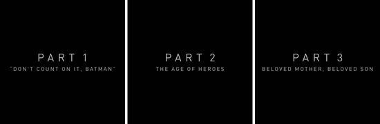 导剪版《正义联盟》分为六个篇章 官方公开全部章节名
