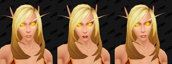 《魔兽》8.0测试服更新 血精灵新脸型与金瞳曝光