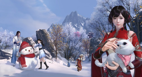 缤纷趣味玩法 一起堆雪人