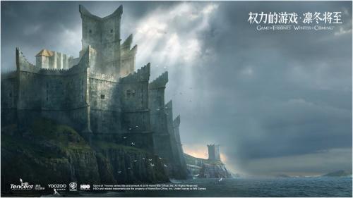 游戏原画:黑城堡