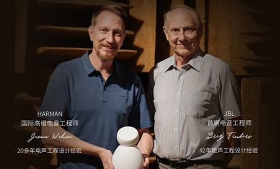 小青AI音箱由哈曼国际高级工程师Jason Wehne及JBL 首席工程师Greg Timbers联手打造