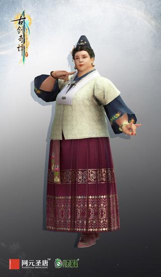 中年女性三维角色模型