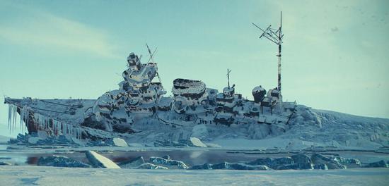 很像欧根亲王号的一艘德国重巡洋舰