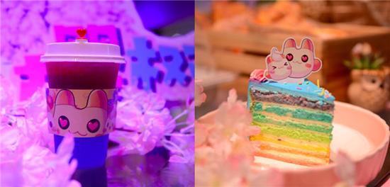 彩虹岛主题蛋糕