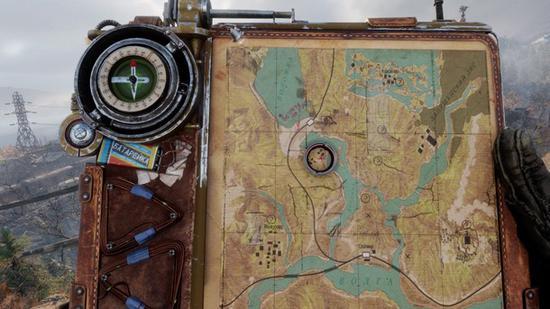 """游戏地图超大,玩家必须靠着""""地图""""找路"""