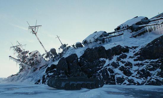 看起来像俾斯麦级战列舰的沉船